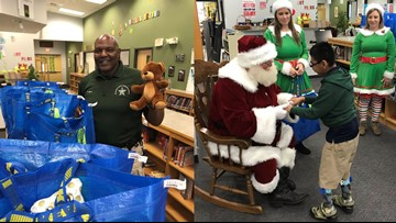 Deputies help Santa deliver holiday cheer to students with severe health concerns