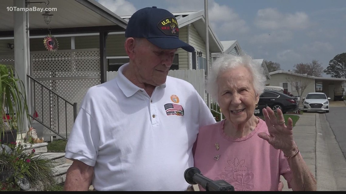 WWII veteran vaccinated at home while hosting Florida governor