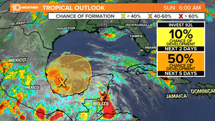 Tropical development possible this week in the Gulf of Mexico