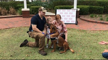 Florida soldier reunites with retired bomb detection dog after years apart