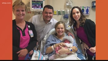 St. Joseph's Women's Hospital welcomes first baby of 2019