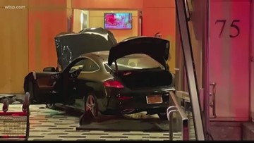 Car crashes into lobby of Trump Plaza in New Rochelle, New York
