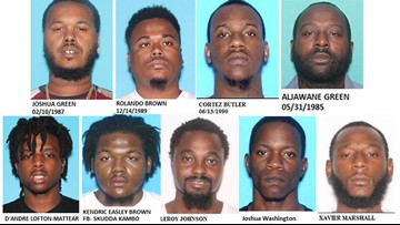 Deputies: 9 men associated with violent '200 Skudda Gang' arrested in Tampa