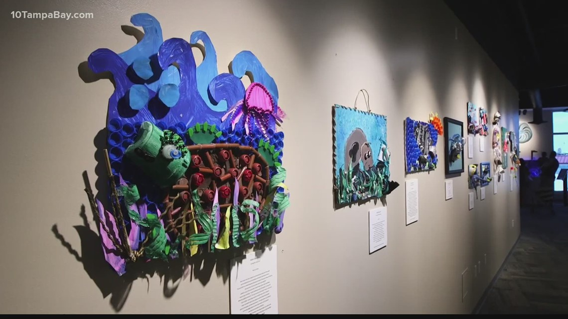 Trash pulled from Tampa Bay waters becomes art in the hands of students