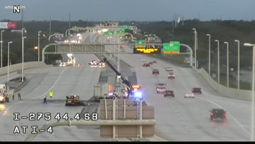 Interstate 275 reopens after semi-truck crashes into barrier