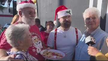 People line up for Brocante Market's final weekend sale