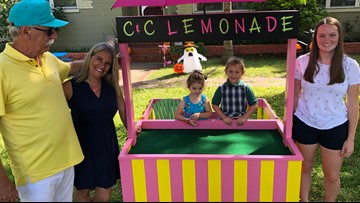 Viewers build lemonade stand for cancer research fundraising child