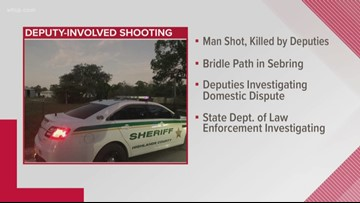 2 Highlands County deputies shoot, kill man