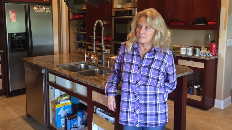 She paid more than $2,000 for her cabinets, but the work was never finished