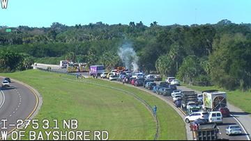 Deadly crash shuts down northbound I-275 near Sunshine Skyway Bridge
