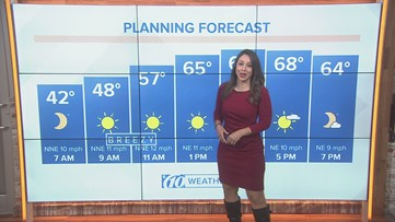Cool and windy start to the weekend, but sunshine returns