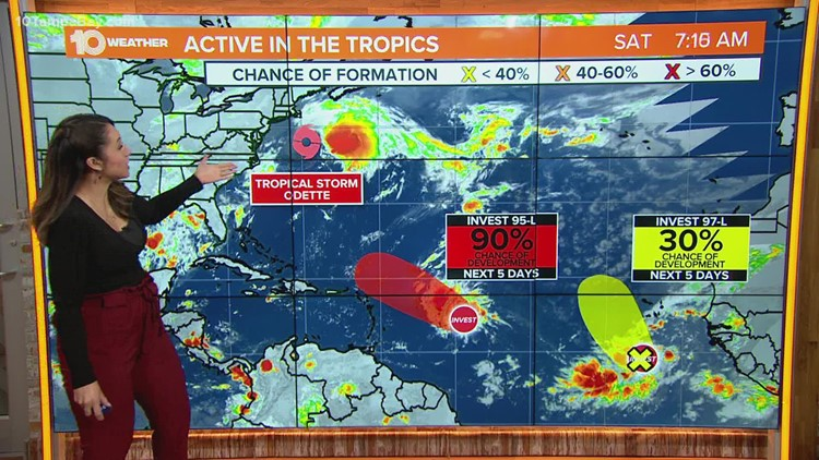 NHC: Tropical Storm Odette to bring strong winds to Canadian Province as post-tropical cyclone