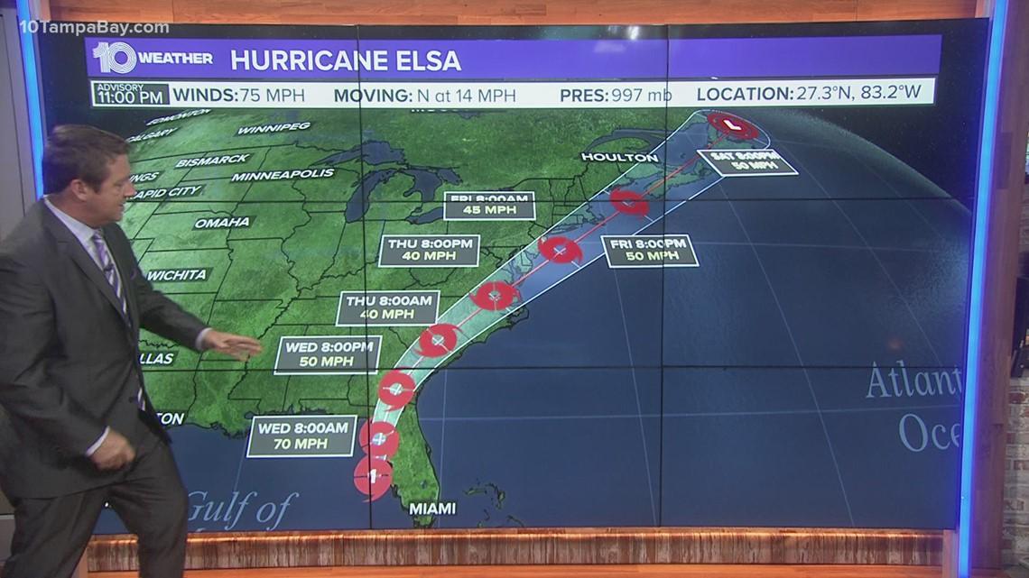 Hurricane Elsa: Heavy rain, gusty winds sweep into Tampa Bay