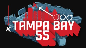 Next year's Super Bowl is in Tampa. Listen to the Tampa Bay 55 podcast now!