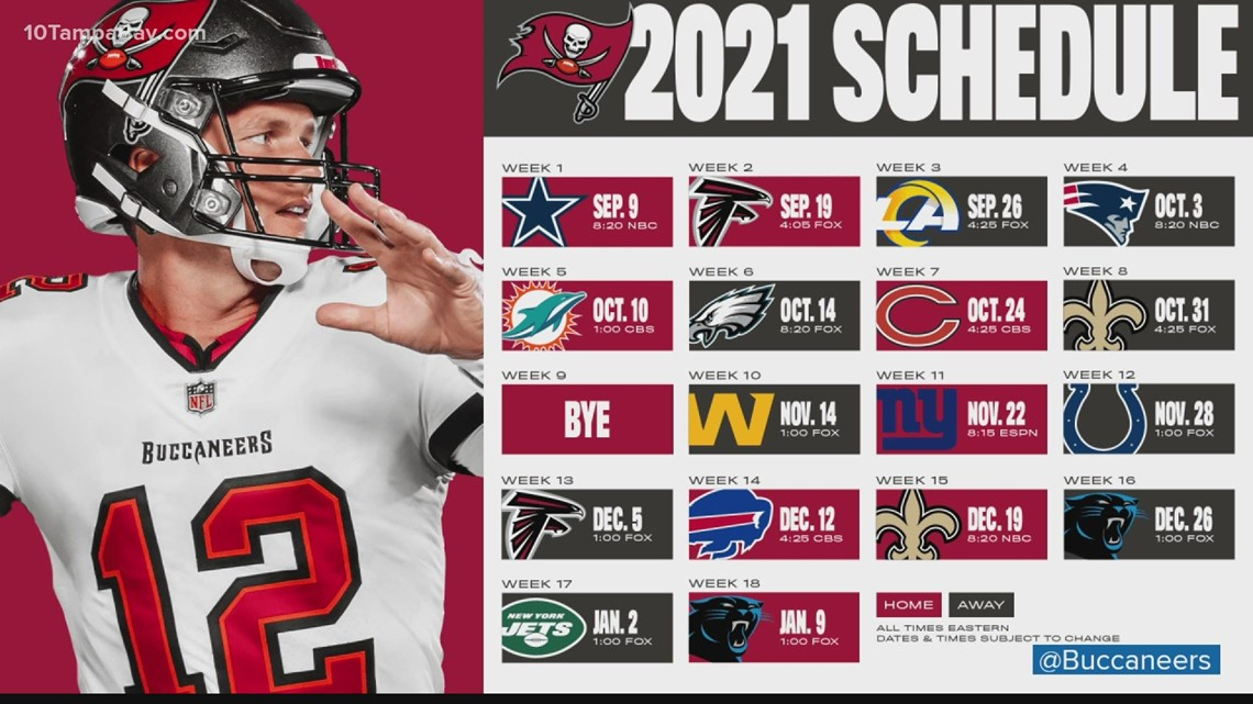 These are the can't-miss games for the Buccaneers 2021 season