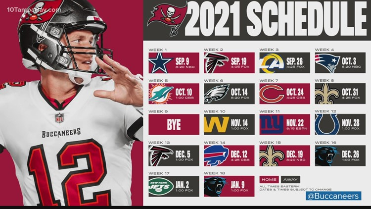 Did the Bucs get a raw deal with their 2021 NFL season schedule?