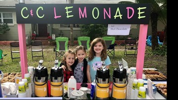 Hot chocolate stands in for lemonade and keeps girl's research donations rolling
