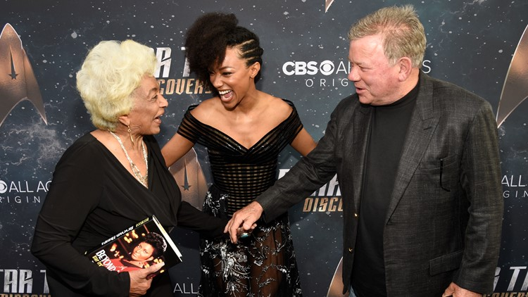 William Shatner makes history again, 52 years after Star Trek's interracial kiss