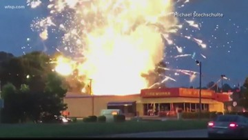 Wow Moments: Surprise fireworks show when shop catches fire