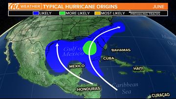 Hurricane season: Where to look for tropical development in June