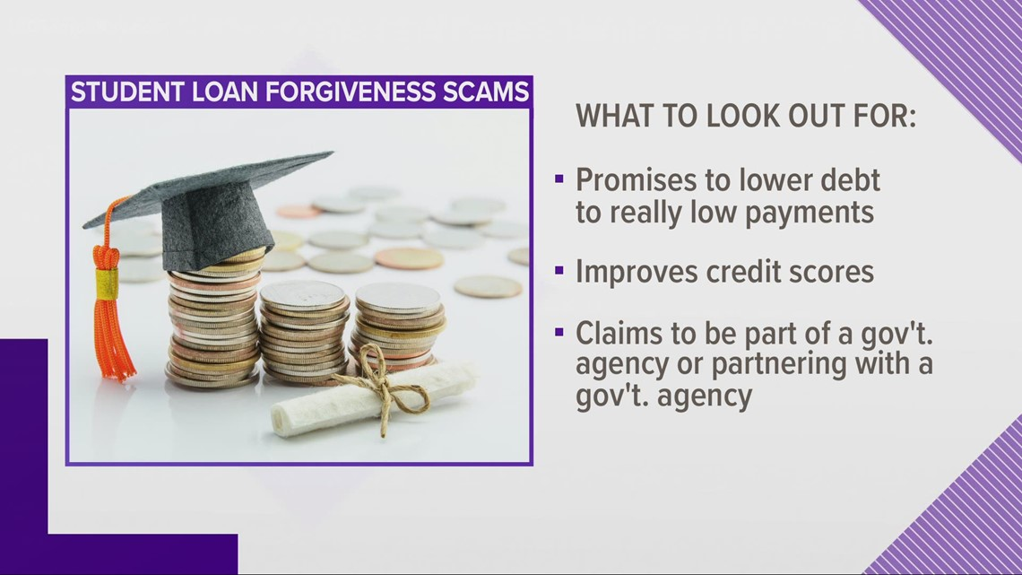Watch out for scammers promising to forgive your student loan debt