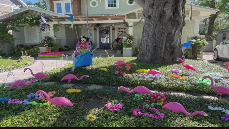 Tampa homeowners decorate houses in Gasparilla gear following the festival's cancellation