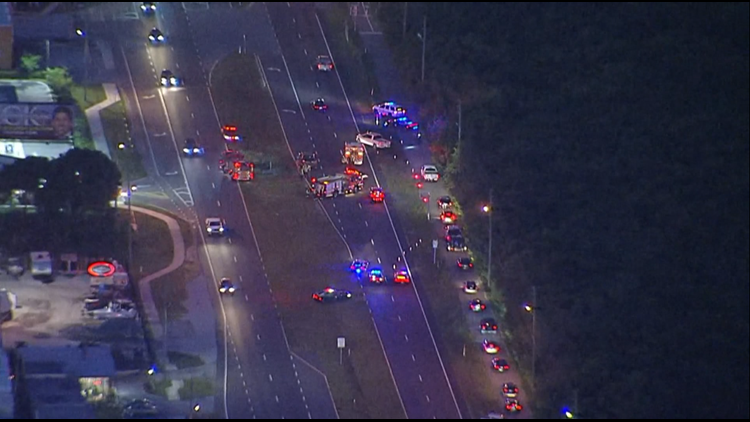 Deadly crash shuts down westbound lanes of Gandy Boulevard