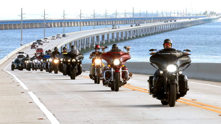 Wounded veterans ride motorcycles through Florida Keys