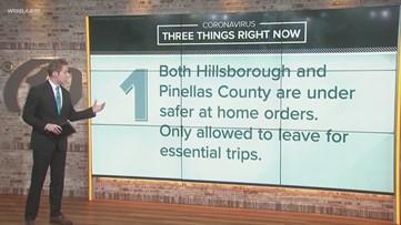 Coronavirus latest: Safer-at-home orders, Raymond James Stadium testing closed, travel order