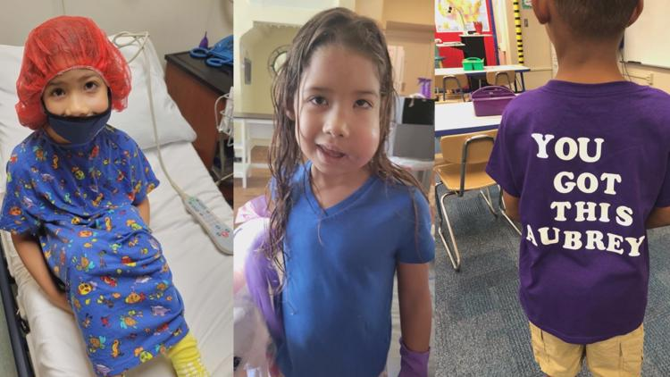 'It's Aubrey Day': A Bradenton elementary school goes purple for girl with rare cancer