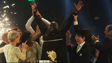 Man who gave earnings to poor wins $1 million teacher prize