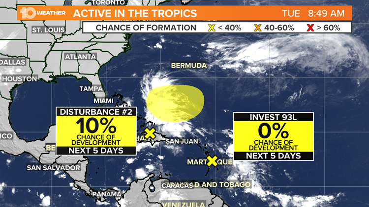 Tracking the Tropics: 2 new areas to watch for development