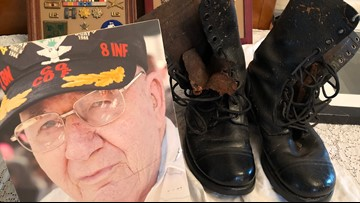 He was the 1st American to land on D-Day. Now his boots offer a legacy in leather