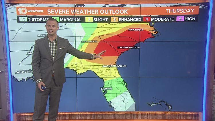 A few strong-to-severe storms possible Thursday
