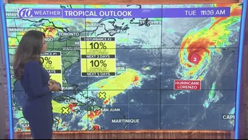 Tracking the Tropics: Keeping an eye on two disturbances and Hurricane Lorenzo
