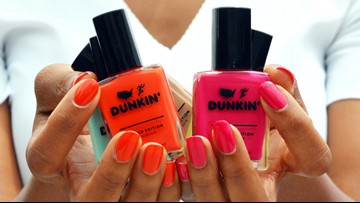 Dunkin' launches nail polish collection inspired by coffee flavors