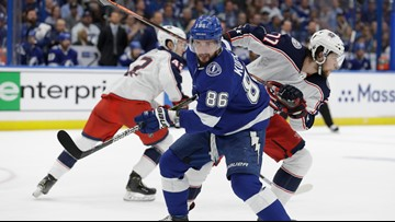 Lightning lose Game 3 to Blue Jackets 3-1