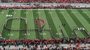 Watch: Ohio State University Marching band takes 'One Giant Leap' with halftime performance