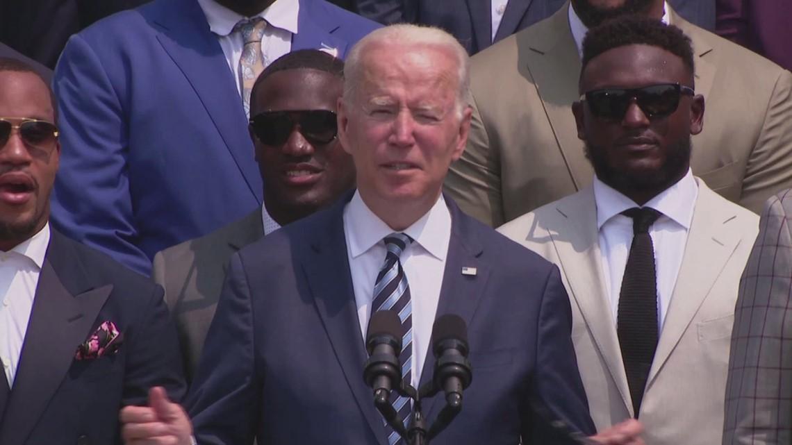 President Biden tells Buccaneers players to get vaccinated