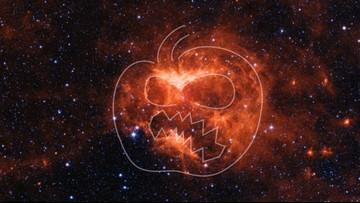 NASA telescope spots 'Jack-O-Lantern Nebula'