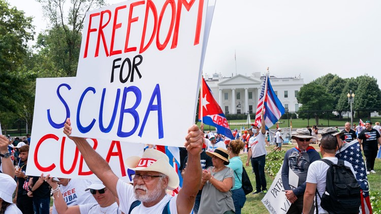 Thousands attend Washington, DC, march for Cuban rights