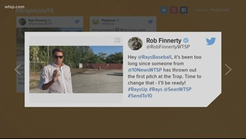 Tampa Bay Rays fans: Help get Rob Finnerty to Tropicana Field to throw out first pitch
