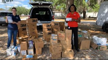 Polk County Schools donate medical supplies to local hospitals