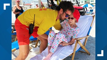 Alabama lifeguards help 95-year-old woman get to and from the beach