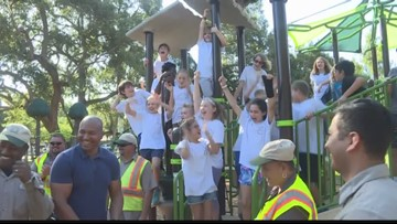 Sarasota celebrates the reopening of a park after it was burned down