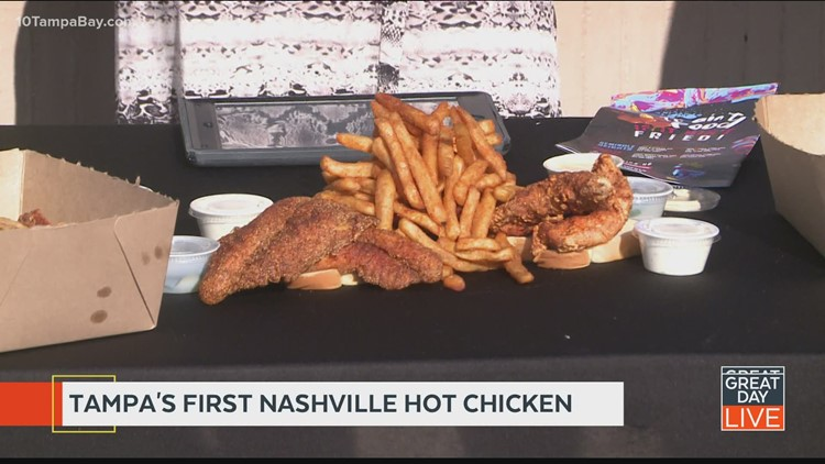 Enjoy Nashville hot chicken in Seminole Heights