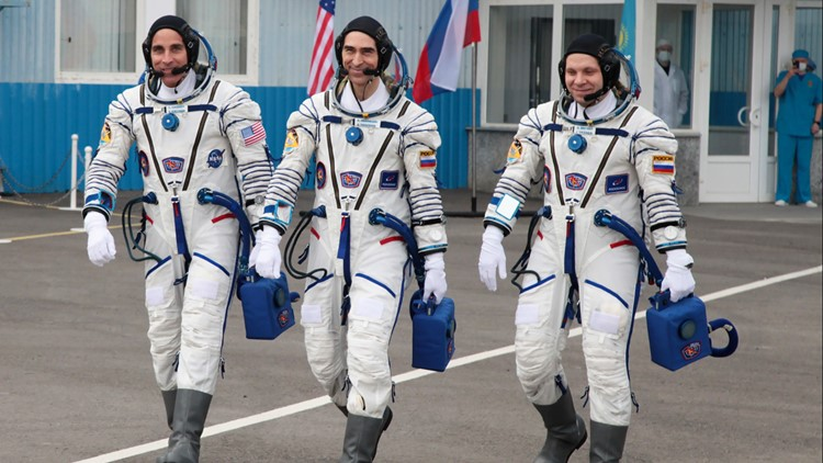 3 astronauts leave pandemic-ridden Earth for space station