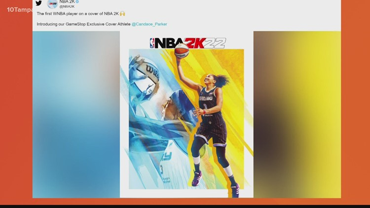 WNBA star Candace Parker becomes 1st female cover athlete in history of NBA 2K