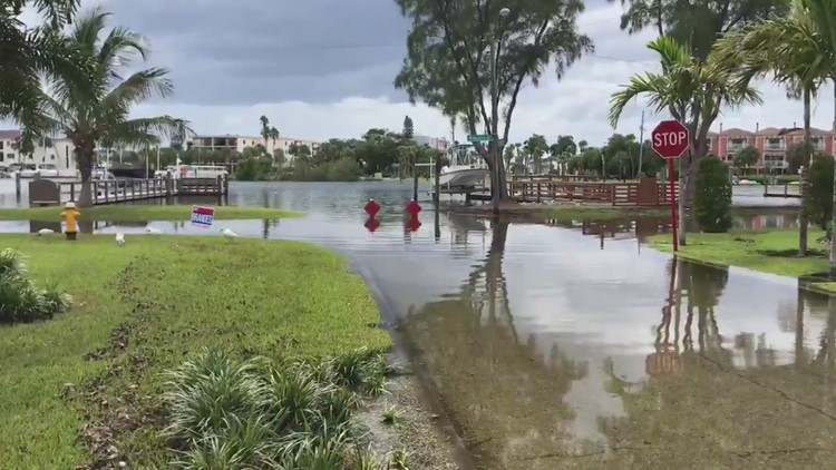 Video Van Drives Through Flooded Road In St Pete Beach