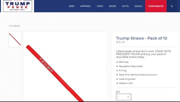 Trump campaign sells plastic straws because 'liberal paper straws don't work'